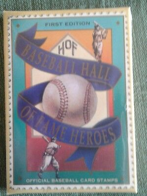 First Edition Hof Baseball Hall Of Fame Heroes Official Card Stamps (Nib Sealed)