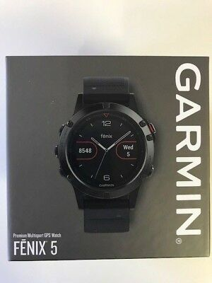 Garmin Fenix 5 Premium GPS Training Watch Slate Gray With Black Band 47mm
