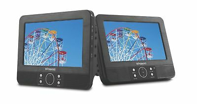"Polaroid PDVD-16309B 9"" Dual Screen Portable DVD Player - (Black) B+"
