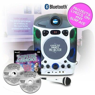 MrEntertainer CDG Bluetooth Karaoke Player Machine with Projector, USB & Hits CD