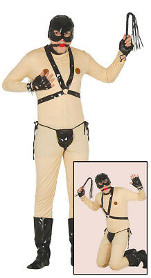 Mens Bondage Costume Adults Gimp Suit Fancy Dress Fetish Stag Do Funny Outfit