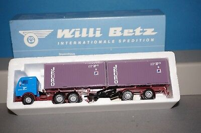 RF38 Herpa MB NG 80 Willi Betz Jeuro Container Sattelzug -OVP-
