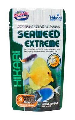 Hikari Seaweed Extreme 1.58 oz | Sinking Small Pellet | Food for Herbivore Fish