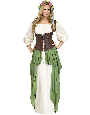 61d97e4253d03 MEDIEVAL WENCH LADY Renaissance Fair Womens Halloween Costume ...