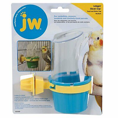 JW Pet Insight Clean Cup Feeder and Water Cup Medium Durable Dishwasher Safe
