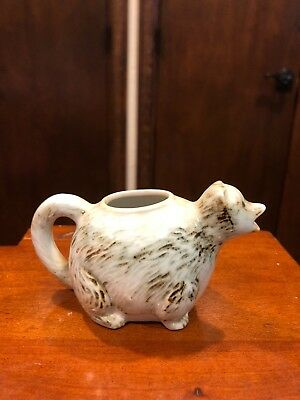 "Racoon Creamer 2 1/4"" Tall In Earthy Tones"