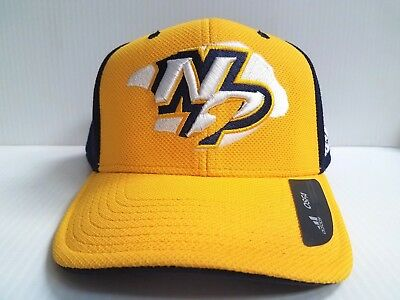 Nashville Predators Cap Adidas Yellow Adjustable NHL Hat