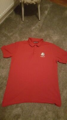 Ryder Cup 2014 Red Polo Shirt Gleneagles By Glenmuir 1891 Size XL