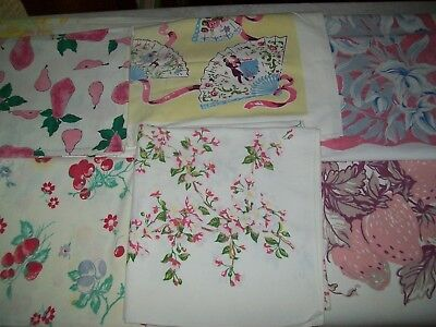 VINTAGE TABLECLOTHS LOT Of Six Wilender Etc Cutters