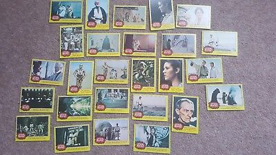 Vintage Collectable Joblot Of Yellow Series Star Wars Bubblegum Trading Cards