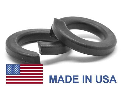 "1/4"" Grade 8 Regular Split Lockwasher - USA Alloy Steel Black Oxide"