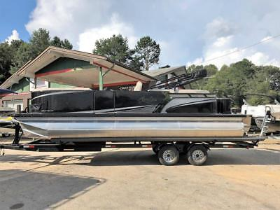 New 2018 Avalon 2485 Lsz Quad Lounger Pontoon / Tritoon! Suzuki 200Hp & Trailer!