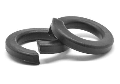 M12 Split Lockwasher Through Hardened Medium Carbon Steel Black Oxide