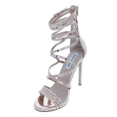 536a486ea12 STEVE MADDEN WOMEN'S Flaunt Strappy Caged Stiletto Heeled Sandals