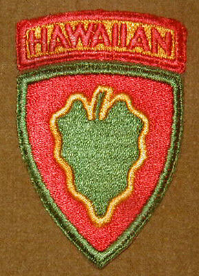 Original WWII Hawaiian Cadre patch Hawaii Division - Integral Tab Variation