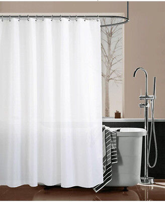 A64 White Mould Proof  Waterproof Bathroom Partition Shower Curtain 150X200CM Z