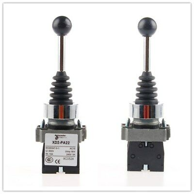 1Pcs Spring Return Joystick Switch 2 Position 2NO XD2PA22CR NEW
