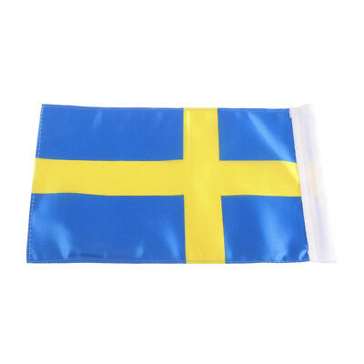NEW Motorcycle Pole Silver Mount and 1 PCS Sweden Flag For Harley Honda Yamaha