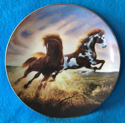 Sunrise Surprise Collectible Plate from The Unbridled Spirit Collection
