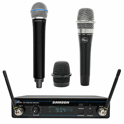 SAMSON Concert 99 Wireless Handheld 80-Channel UHF Microphone Mic + Blue Mic