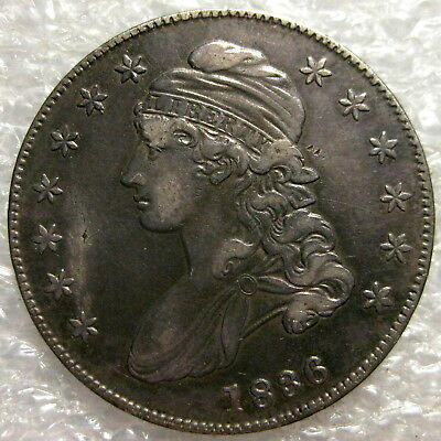 1836 Capped Bust Silver Half Dollar  Circulated