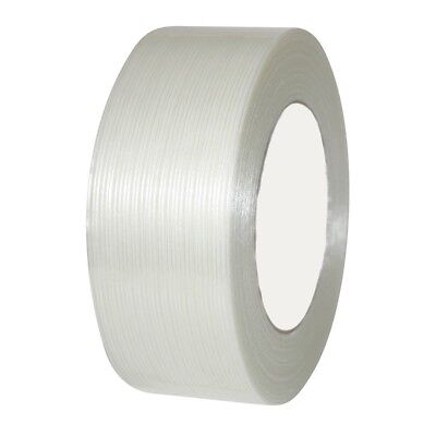 """12 Rolls Economy Filament Strapping Tape 2"""" x 60 Yards 3.9 MIL Reinforced"""