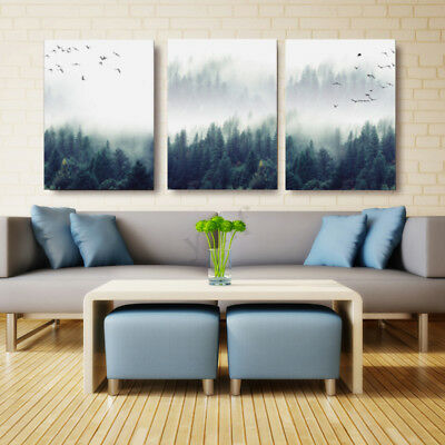 Modern Forest Landscape Art Print Canvas Painting Poster Home Decor Unframed
