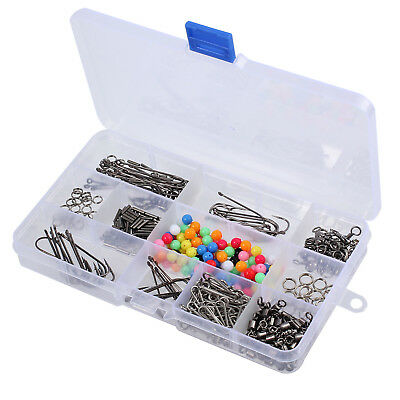 Sea Fishing Tackle Rig Set, 50+ Rigs,Beads/Swivels/Crimps/Hooks With plastic Box