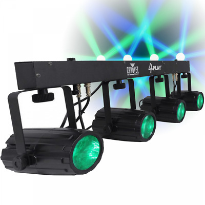 Chauvet DJ 4Play LED Lighting Effects Package 4 Play Pod Disco FX Inc Carry Bag