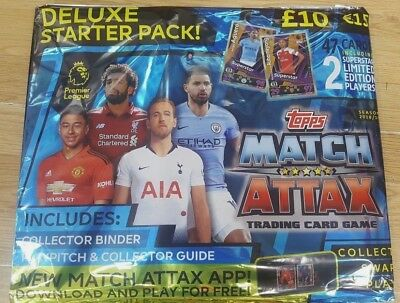 Topps Deluxe Match Attax 2018/19 Trading Cards Game Starter Pack: Binder + Ltd