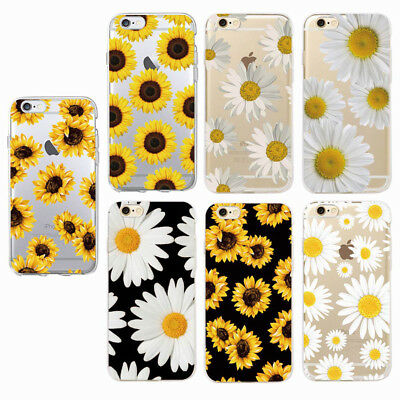 Boho Summer Daisy Sunflower Floral Flower Soft Clear Phone Case Cover iPhone 7 8