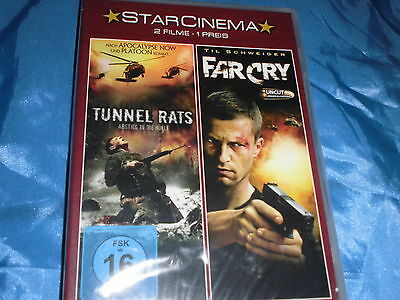 FILM  DVD ,  2 Action  Filme : TUNNEL RATS + FAR CRY  ( mit Til Schweiger ) / 22
