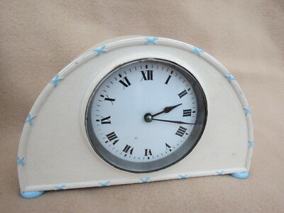 Antique French Metal Cased 8 Day Clock For Spares Or Repair