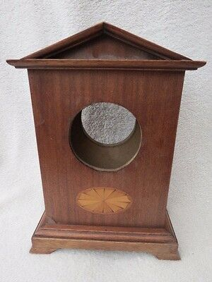 Modern Mahogany Veneered Clock Case