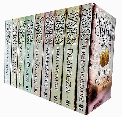 Winston Graham Collection Poldark Series Vol 1 Warleggan Black Moon 9 Books Set