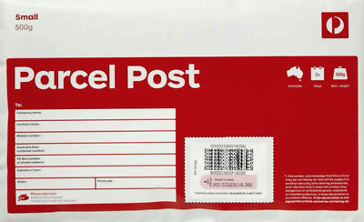 GENUINE 10 X 500g Australian post standard prepaid satchel with tracking