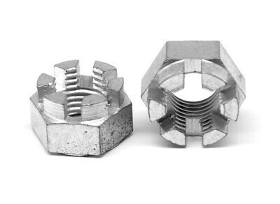 3/4-16 Fine Grade 5 Hex Castle Nut Medium Carbon Steel Zinc Plated