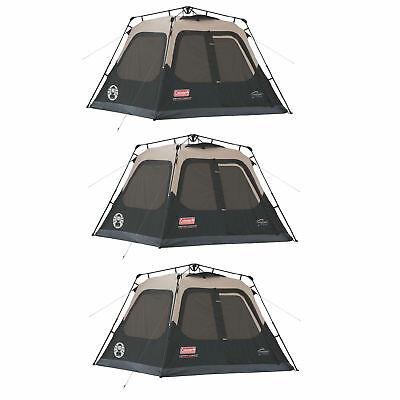 Coleman Outdoor Family Camping 4-Person Waterproof Instant Cabin Tent (3 Pack)