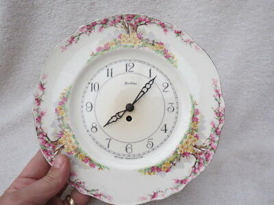 Vintage Bentima Porcelain Plate Wall Clock For Tlc