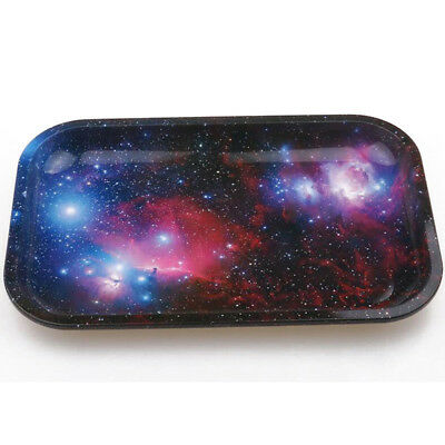 Durable 18cm*12.5cm Rolling Tray Metal Cigarette Essential Smoking Holder Trays