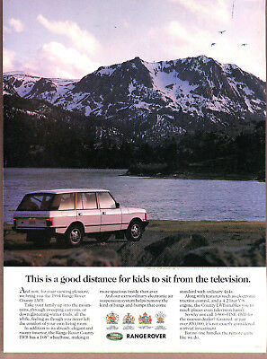 "1994 Range Rover Ad ""This is a good distance..."" Print Ad"