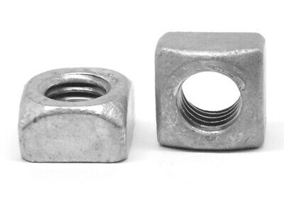 "1/2""-13 Coarse Thread Grade 2 Regular Square Nut Hot Dip Galvanized"