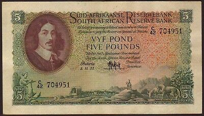 SOUTH  AFRICA   5 Pounds  3.11.1955