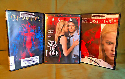 3 Romanitc Thrillers: Crimson Peak, Unforgettable and Sea of Love (DVD)