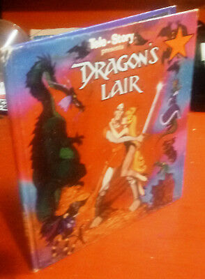 DRAGON'S LAIR Tele-story Book SIGNED by GARY GOLDMAN and DON BLUTH 1984 HC