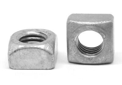 "7/16""-14 Coarse Thread Grade 2 Regular Square Nut Hot Dip Galvanized"