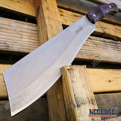 "14"" Survival Hunting Machete Hatchet Camping Gear Ninja Sword STONEWASHED BLADE"