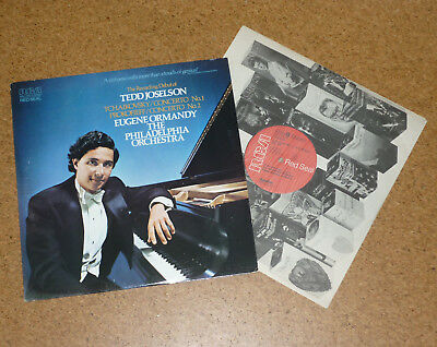 LP Tchaikovsky / Prokofieff Tedd Joselson Piano Concerto Ormandy RCA Red Seal