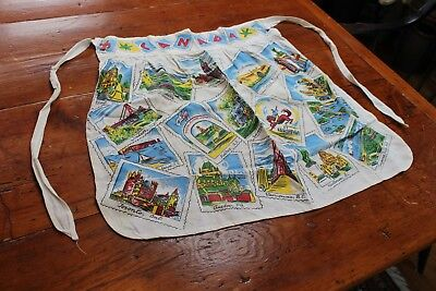 Vintage Cotton Waist Apron Canada Cities and Sites