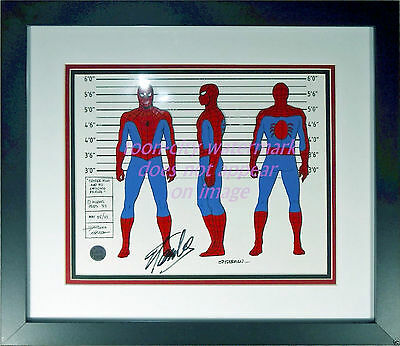Spider-Man hand painted cel 1983 Marvel Amazing Friends HAND Signed STAN LEE COA